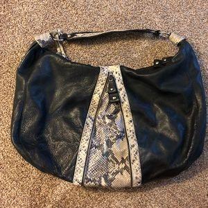Cynthia Rowley Black Leather Hobo handbag
